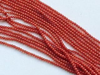 1 hebra de cuentas de coral de Japón natural, coral japonés natural, bolas redondas originales de coral, collar de coral, ...
