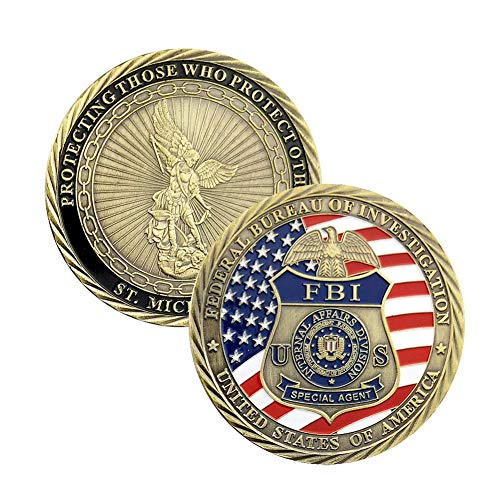 U.S. FBI Challenge Coin Collection St Michael Law Enforcement Coin Military Gift.