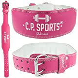 CP Sports Lady Cinturón de piel salmón – Mujeres – Cinturón de levantamiento de peso – Cinturón de apoyo (L = 84 – 99 cm)