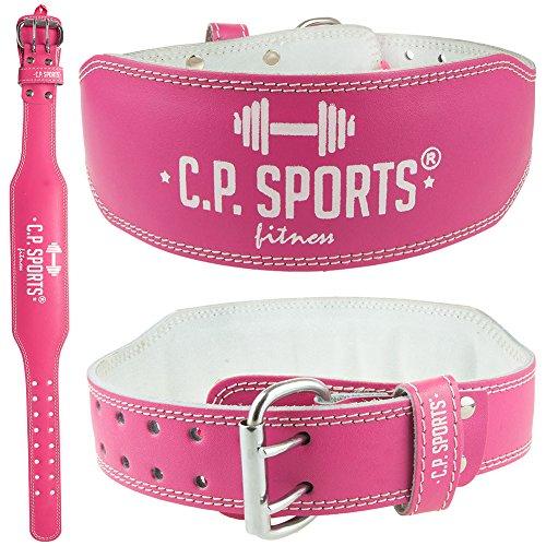 CP Sports Lady Gürtel Leder PINK - Frauen, Damen Gewichthebergürtel - Stützgürtel (L = 84-99cm)