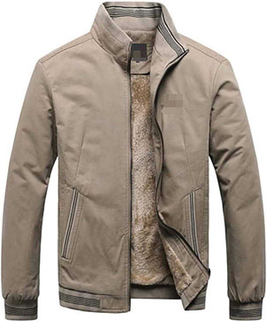 Winter Outdoor Windproof Mens Bomber Jackets Plus Size Casual Male Fleece Thick Warm Windbreaker