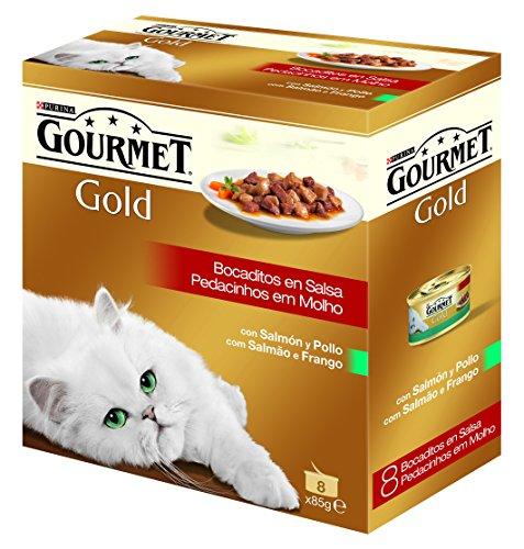 Purina Gourmet Gold Bocaditos en Salsa 1 Paquete Surtido de 8 x 85 gr - Total: 680 g