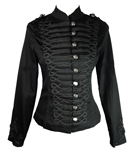 Damen H&R Hearts & Roses Steampunk Dampf Punk Gotik Parade Jacke (UK 12 / EU 38 / US 8)