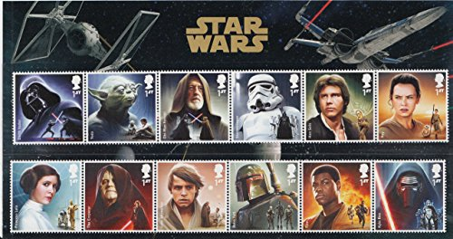 STAR WARS The Force Awakens Character Stamp Set Royal Mail Collectible Postage Stamps