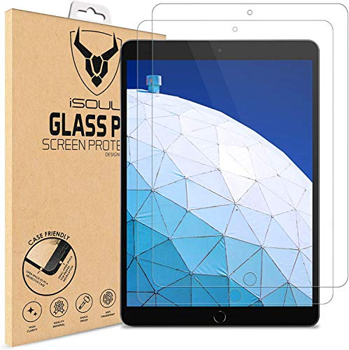 iSOUL [2 Pack] Screen Protector Compatible with iPad Air 3 (10.5 Inch 2019 Model) and iPad Pro 10.5 (2017) Tempered Glass