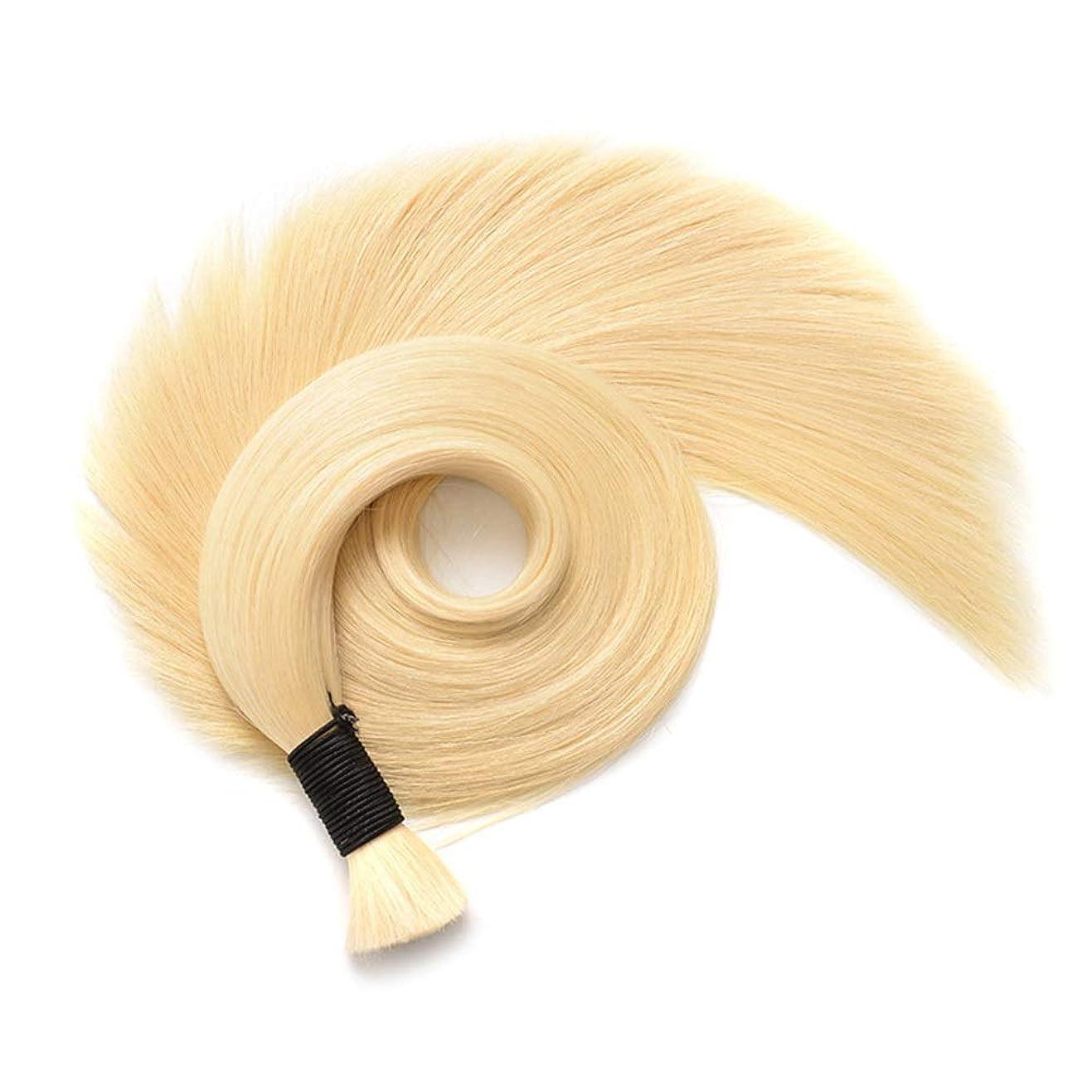 超越する入植者急行するJULYTER 華麗なブロンドの人間の毛髪延長剤曲がりくねったナノリングヘアエクステンション50g /パッケージ (色 : 70cm)