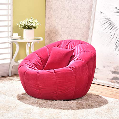 AXHSYZM Lazy Sofa Creativity Personality Pumpkin Fashion Home Sofa Living Room Casual Bedroom Balcony Individual Small Sofa Furniture,Rose red
