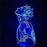 GEZHF 3D LED Lampada per Bambini 3D Illusione Lampada Haikyuu ToRU OIKAWA Figura Anime Led Night Lights 3D Anime Lampada Haikyuu Led Light Lampada da Tavolo per Bambini Home Decor