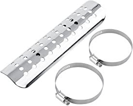 VGEBY Chrome Exhaust Muffler Pipe Heat Shield Cover Heel Guard (Color : Silver)