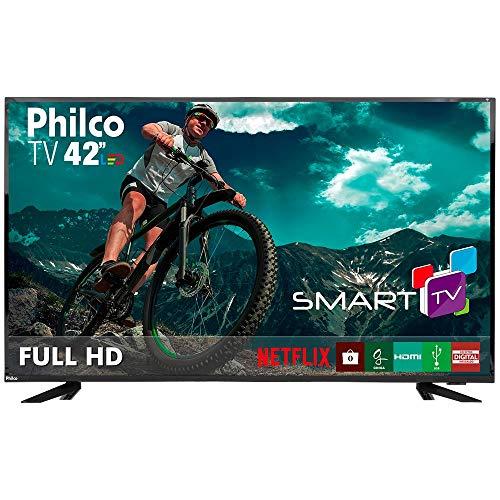 'Smart TV 42 Philco Full HD, Wifi Integrado, Conversor digital, Entradas 3 HDMI, 1 USB, 60Hz, 20w RMS, Bivolt - PTV42E60DSWN'