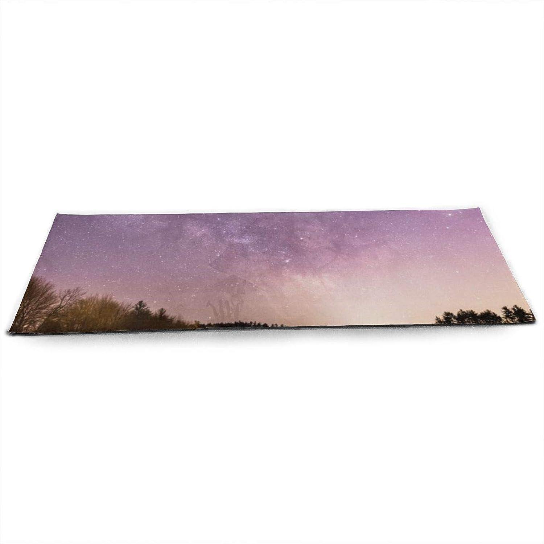 Whages Naturemilkywaystarsgalaxy584328 NonSlip Soft Advanced Printed Environmental Yoga Mat 31.5  × 51.2