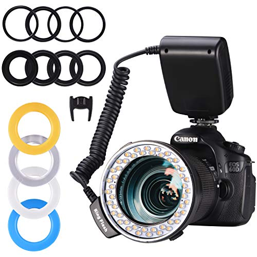 Emiral Ringblitz, Makroblitz Ring Flash LED Ringleuchte für Nikon, Canon, Panasonic und Olympus