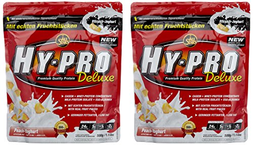 All Stars Hy-Pro Deluxe Beutel Doppelpack (2 x 500 g) Pfirsich-Joghurt, 1er Pack (1 x 1 kg)