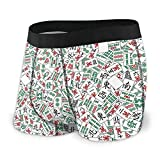 Drempad Calzoncillos Bóxers Slips, Men's Boxer Brief Chinese Mahjong Tiles-1 Protection...