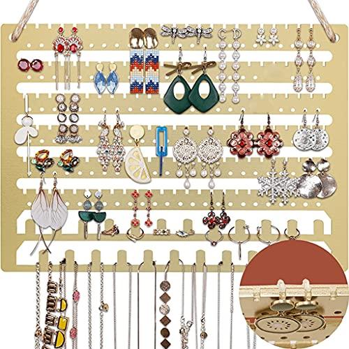 VEILTRON Organizador de joyería Colgante de Madera Soporte de exhibición de Pendientes de Collar montado en la Pared