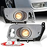 AJP Distributors Front Driving Fog Lights Bumper Lamps Set LH RH + Bulbs Switch Wiring Harness Kit Compatible/Replacement For Honda Civic EG EJ Hatchback Coupe 2/3 Door 1992 1993 1994 1995 92 93 94 95