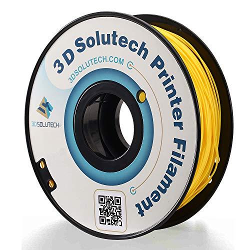 3D Solutech Real Yellow 1.75mm ABS 3D Printer Filament 2.2 LBS (1.0KG) - 100% USA