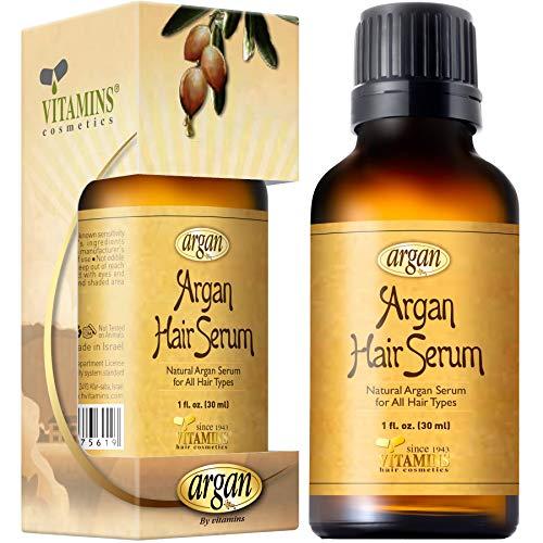 Vitamins Sérum Avancé & Soin Naturel Hyper Hydratant à l' Huile d' Argan pour cheveux secs, frisés ou abîmés, anti fourche & frisottis