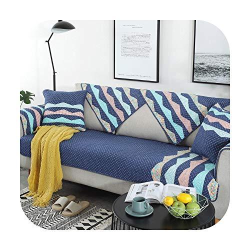 Modern minimalistisch L gevormde bankovertrek antislip Scandinavische stijl katoen bedrukt Wave bank kussen huisdier hond Kids mat meubels