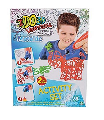 Giochi Preziosi- Giochi Preziosi-IDO3D Vertical Activity Set Metallic con 2 Penne, Tema Zoo, Disegno e Creazione in 3 Dimensioni, D3D16200