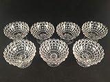 Glasknauf für Herdarten, kugelförmiger Fuß, 6,3 cm hoch, 9,5 cm Durchmesser, 7 Stück