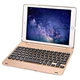 Iegrow F1Series Keyboard Coque pour iPad for iPad Pro 9.7/Air 2 Gold(for iPad Pro 9.7/Air 2)