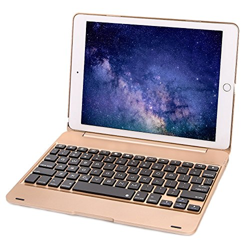 Iegrow F1Series tastiera custodia per iPad oro Gold(for iPad Pro 9.7/Air 2) for iPad Pro 9.7/Air 2