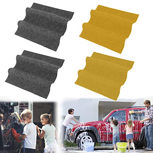 4 Pcs Nano Sparkle Cloth, Nano Magic Cloth Scratch Remover, Nano Car Magic Cloth for Repairing Light Paint Scratches, Surface Polishing and Water Spots for Cars Safe All Paint Colors (Grey, Yellow)