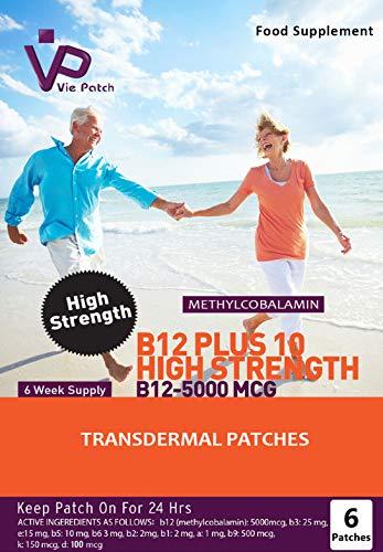 VIE Patch Vitamin B12 Plus 10 Hohe Festigkeit 6 Patches, 40 g