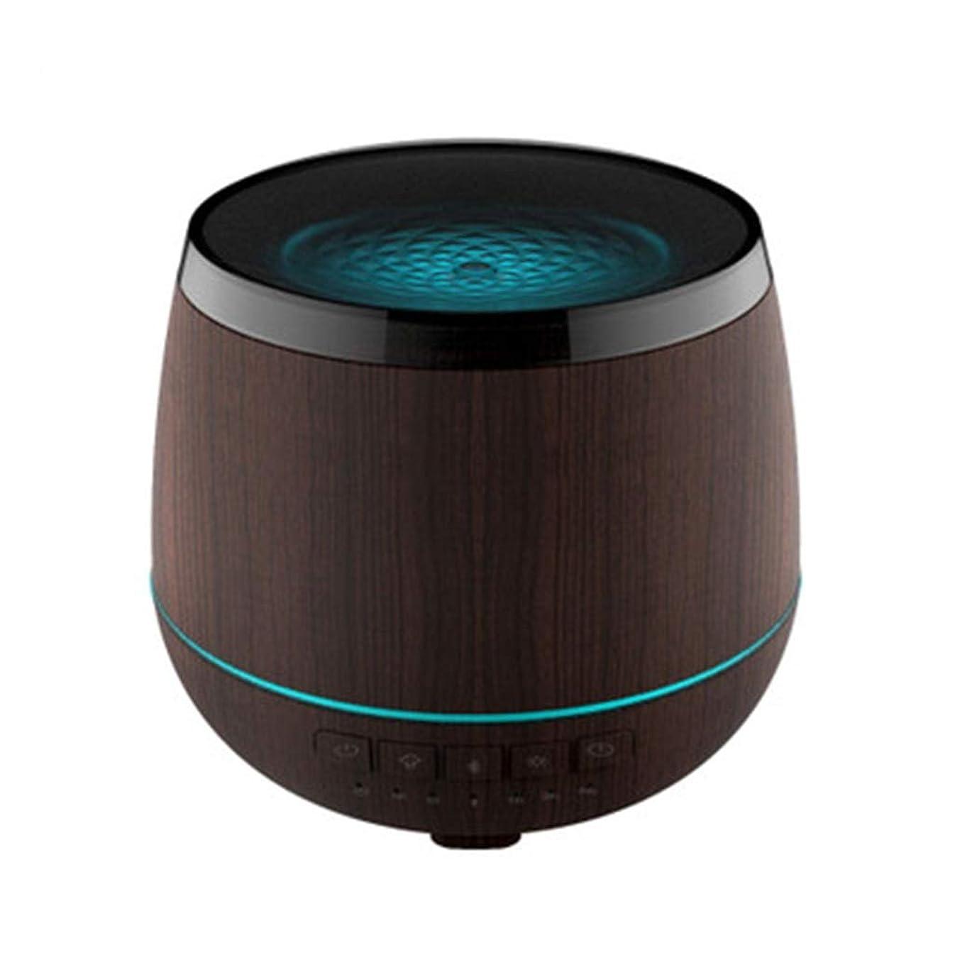 受益者虚偽噴水スマートなブルートゥースのスピーカーの加湿器、可聴周波超音波炉の必要な夜ライト無言の本社 (Color : Black)
