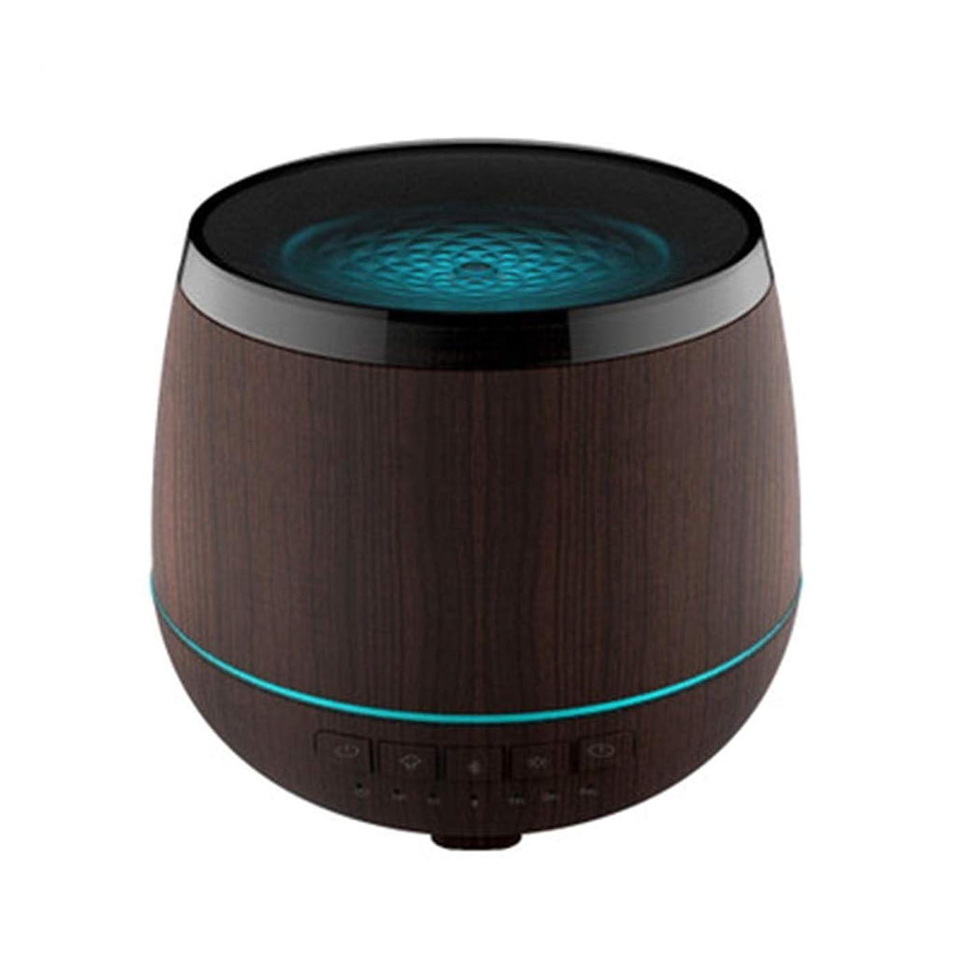 手を差し伸べる一般的に言えば摂氏スマートなブルートゥースのスピーカーの加湿器、可聴周波超音波炉の必要な夜ライト無言の本社 (Color : Black)