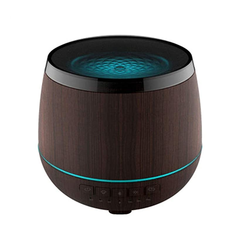 陰気マーチャンダイジング抑止するスマートなブルートゥースのスピーカーの加湿器、可聴周波超音波炉の必要な夜ライト無言の本社 (Color : Black)