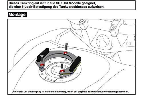 Motorize-HEPCO & Becker Lock-it - Fijación para Mochila de depósito para Yamaha YZF R6 a Partir de 2017
