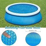 XBBLGDD Cubierta de Piscina 365X365CM Pool Cover Redonda de 12 pies Cubierta Solar Cubierta Solar Calefacción Protección Azul para la evaporación de la Piscina
