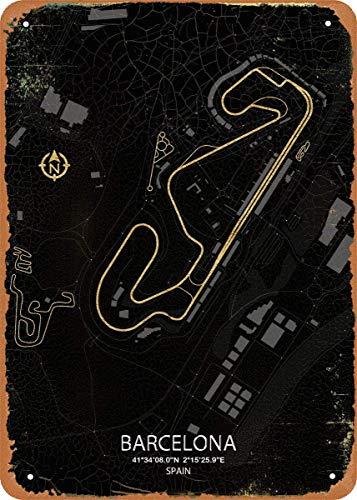 Fórmula uno pistas circuito de Barcelona arte de pared 12
