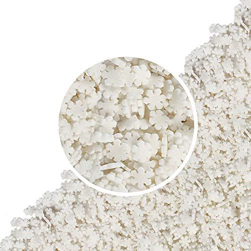 55 g Zucker Schneeflocken   essbar   Tortendeko   Winter   Weihnachten