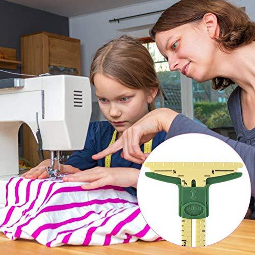 iBoosila Nählehre Nählineal Messwerkzeug Nähzubehör Schneiderei Lineal 5 in 1 Patchwork Patch Patchwork Tool Schneiderei Lineale