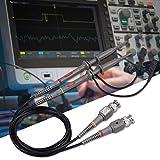 AUTOUTLET 100MHz Sonda de Osciloscopio, Sonda de Prueba de Clip con BNC a Minigrabber Kit de Cable de Prueba, Sonda de Osciloscopio Universal 10: 1 y Ancho de Banda Conmutable 1: 1