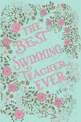 El mejor profesor de natación: regalo personalizado para educadores (diario forrado – tarjeta alternativa)