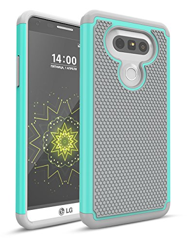 LG G5 Case, TILL Shock Absorbing Hybrid Dual-Layer Defender Rugged Slim Case Soft Interior Silicone Bumper Hard Solid PC Back Cover Shell for LG G5 AT&T T-Mobile Sprint Verizon Unlocked [Turquoise]