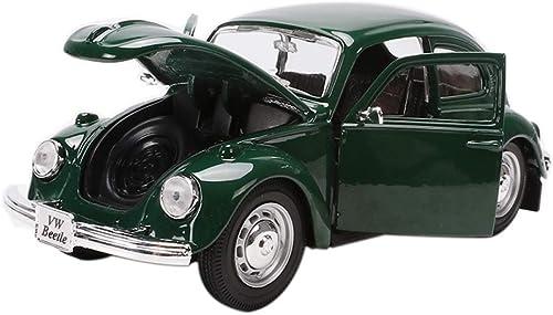 IVNGRI-Modèle de Voiture Jouets de Voiture en métal Die Cast voiture Model Collection Décoration de véhicule pour 4 Ans Garçons Filles Enfants Playsets, 1 24 Beetle