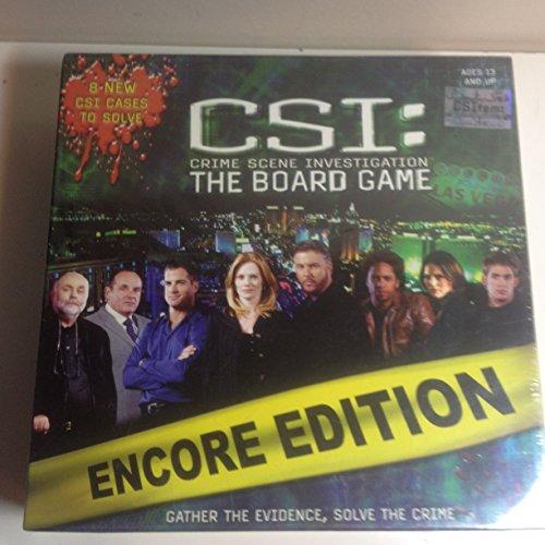 CSI: Crime Scene Investigation The Board Game ENCORE EDITION
