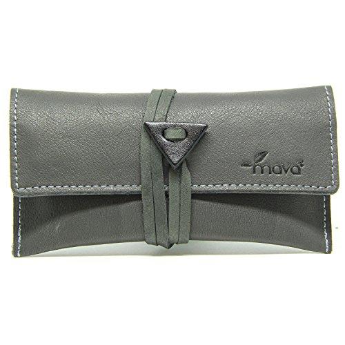 Mavà, Portatabacco in vera pelle artigianale Grey Velvet.