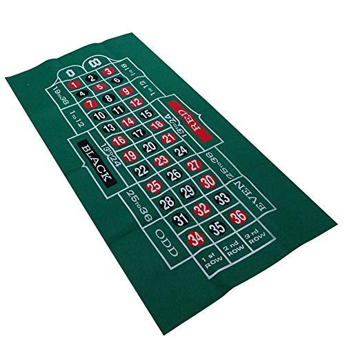 LuukUP Roulette Tischdecke-wasserdichter Tisch mit Blackjack- und Roulette-doppelseitige Muster Spielkarten Tabelle Tuch-Filz für Casino Poker-Gaming-Tischdecken-Layout-Tischkarten