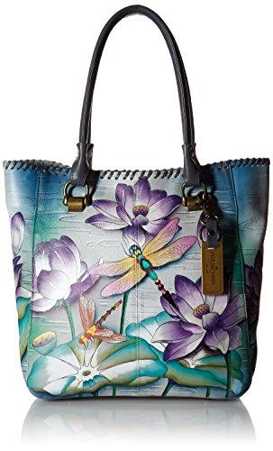 Anuschka Damen Large Tote Umhänge-Handtasche, Ruhiger Teich, Einheitsgröße