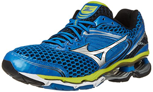 Mizuno Men's Wave Creation 17 Running Shoe, Electric Blue Lemonade/Silver, 7.5 D US