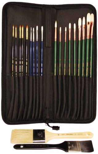 Silver Brush RL-1021 Robert Liberace Portrait Painting Brush Set, 21 Per Pack by Silver Brush Limited