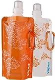 Vapur - The Anti-Bottle, Water Bottle .4L Fun Size 2-Pack - Orange