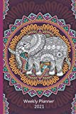 Weekly Planner 2021: Mandala Pattern Gifts For Men & Women | Tibetan Buddhism Weekly Planner 2021 Appointment Book Diary Organizer | Gypsy Yoga Lover To Do List & Notes Sections | Calendar Views