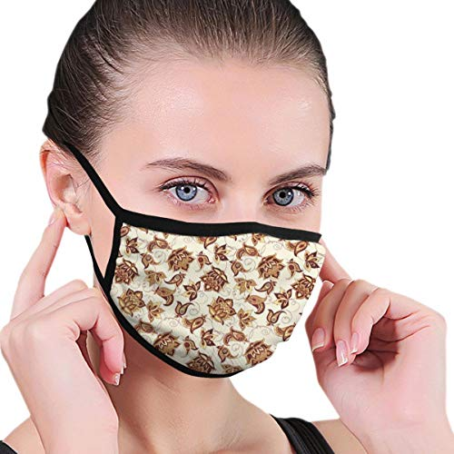 Comfortable Windproof mask,Asian Blooming Beauty Classical Ethnic FashionThemed Ornate Floral Motif,Printed Facial Decorations for Women and Men